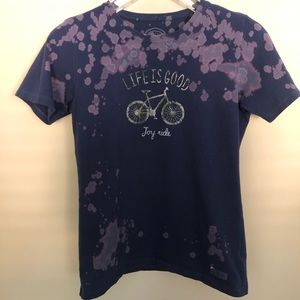 Bicycle Joy Ride Upcycled Bleached T-Shirt